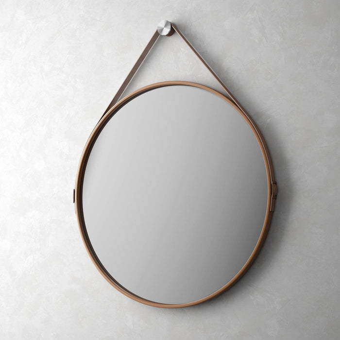 "Pending - Modloft Mirrors Whisky Reclaimed Leather George 36"" Mirror - Available in 2 Colors"