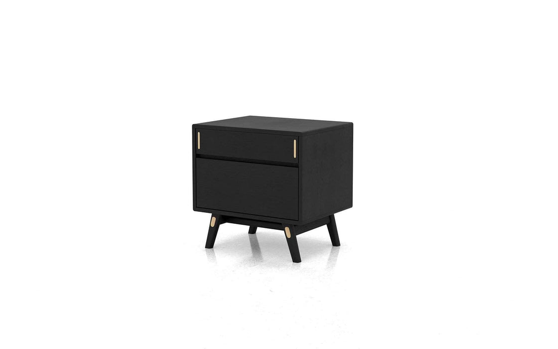 Pending - Modloft Nightstands Black Oak / Left Facing Haru Nightstand - Available in 3 Colors and 2 Styles