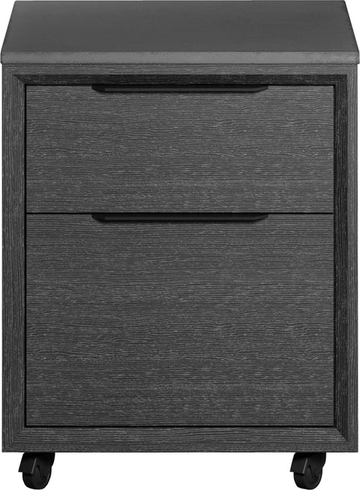 Pending - Modloft Office Amsterdam Mobile Filing Cabinet in Gray Oak and Gray Concrete