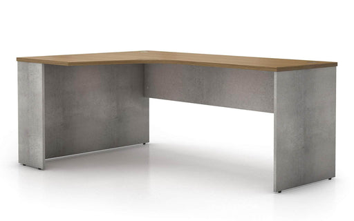 Pending - Modloft Office Broome Corner Desk in Weathered Concrete on Latte Walnut - Available in 2 Styles