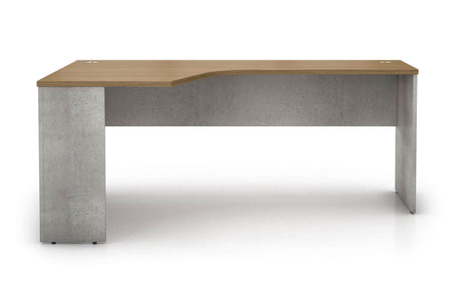 Pending - Modloft Office Left Facing Broome Corner Desk in Weathered Concrete on Latte Walnut - Available in 2 Styles