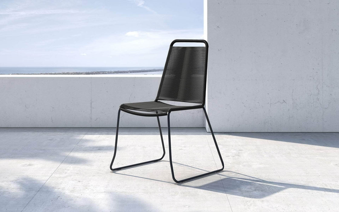 Pending - Modloft Outdoor Black Cord Barclay Stacking Dining Chair - Available in 6 Colors