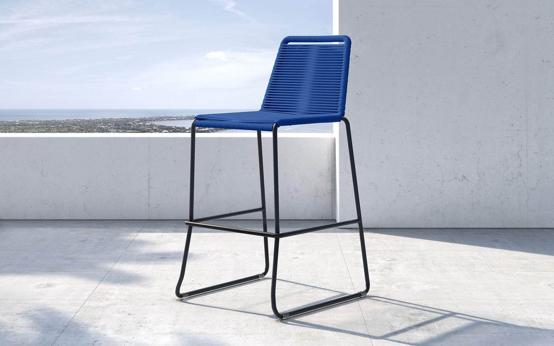 Pending - Modloft Outdoor Blue Cord Barclay Stacking Counter Stool - Available in 8 Colors