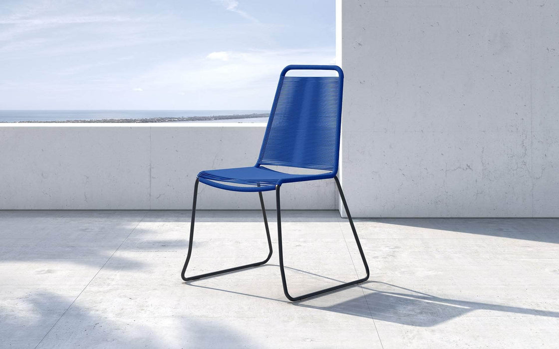 Pending - Modloft Outdoor Blue Cord Barclay Stacking Dining Chair - Available in 6 Colors