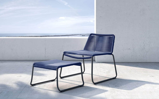 Pending - Modloft Outdoor Blue Cord Barclay Stacking Lounge Chair and Ottoman - Available in 3 Colors