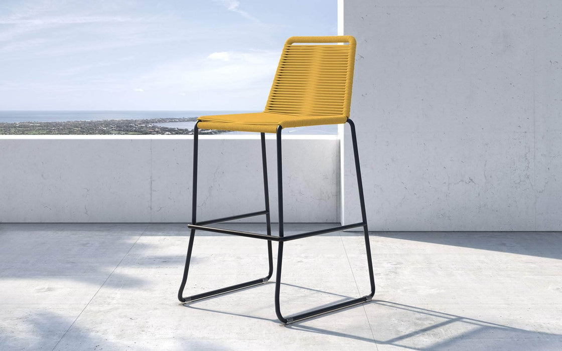 Pending - Modloft Outdoor Curry Yellow Cord Barclay Stacking Counter Stool - Available in 8 Colors