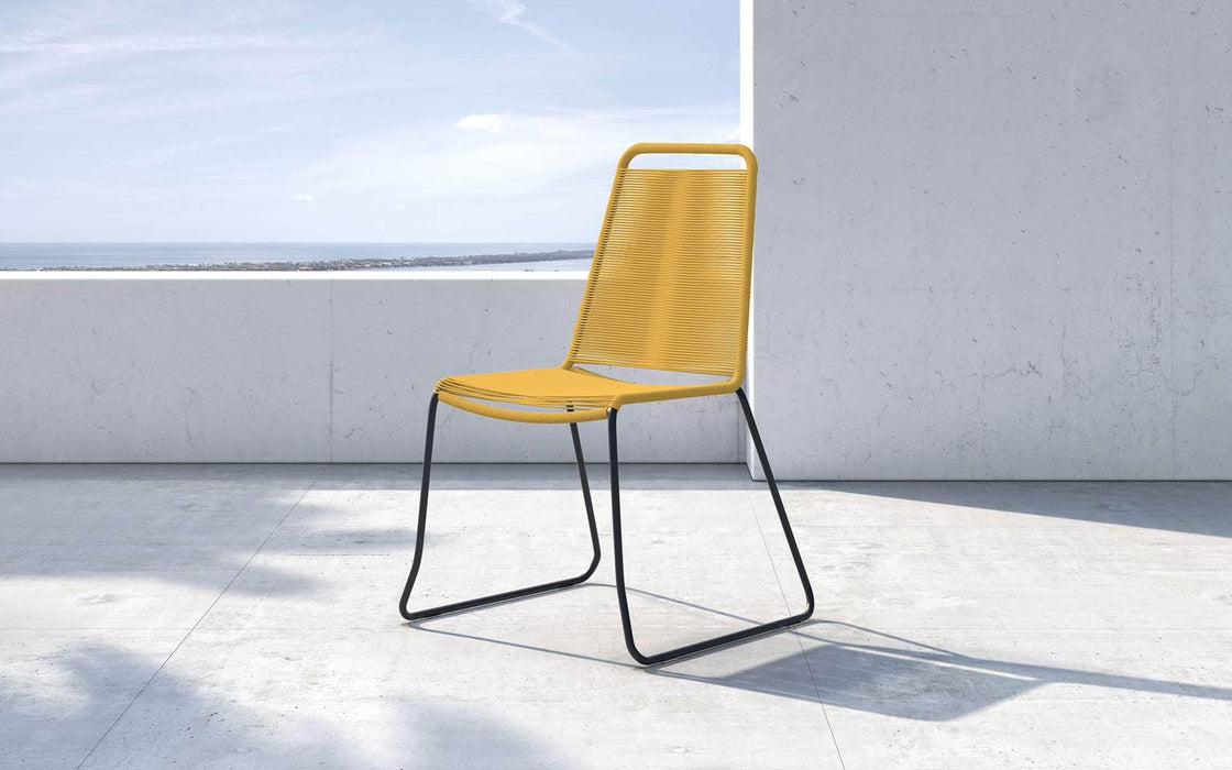 Pending - Modloft Outdoor Curry Yellow Cord Barclay Stacking Dining Chair - Available in 6 Colors