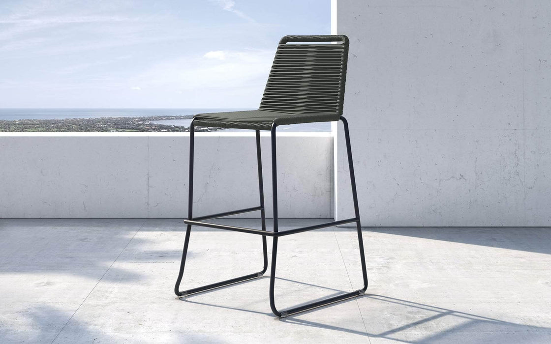 Pending - Modloft Outdoor Dark Gray Cord Barclay Stacking Counter Stool - Available in 8 Colors