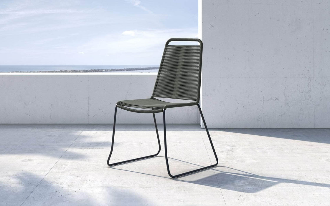 Pending - Modloft Outdoor Dark Gray Cord Barclay Stacking Dining Chair - Available in 6 Colors