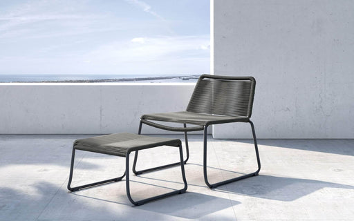 Pending - Modloft Outdoor Dark Gray Cord Barclay Stacking Lounge Chair and Ottoman - Available in 3 Colors