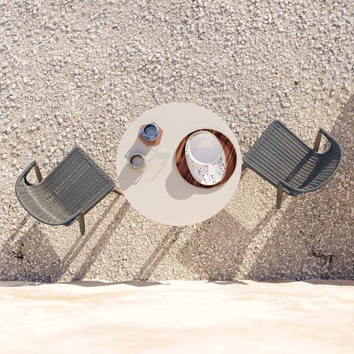 Pending - Modloft Outdoor Embras Stacking Outdoor Dining Chairs in Shades of Gray Cord