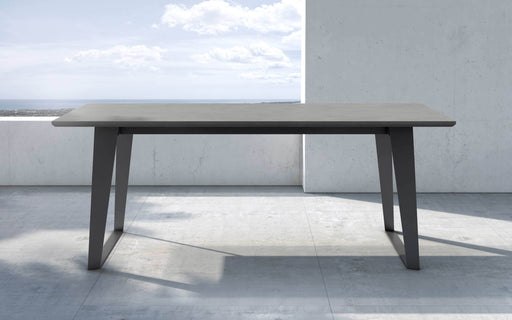 "Pending - Modloft Outdoor Gray Concrete Amsterdam 79"" Outdoor Dining Table - Available in 2 Colors"