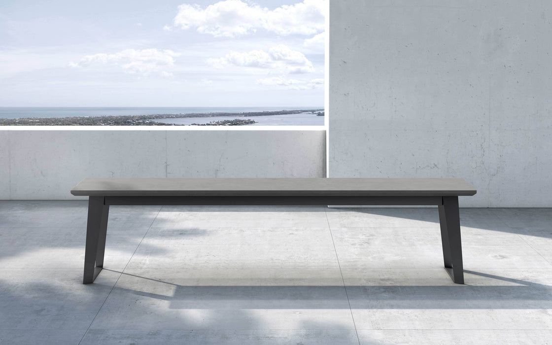 Pending - Modloft Outdoor Gray Concrete Amsterdam Outdoor Bench - Available in 2 Colors