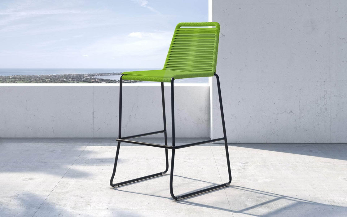 Pending - Modloft Outdoor Green Cord Barclay Stacking Counter Stool - Available in 8 Colors