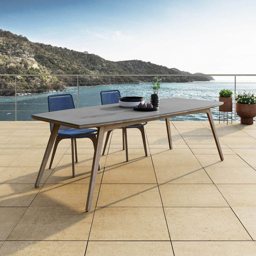 Pending - Modloft Outdoor Liam Outdoor Dining Table in Weathered Eucalyptus