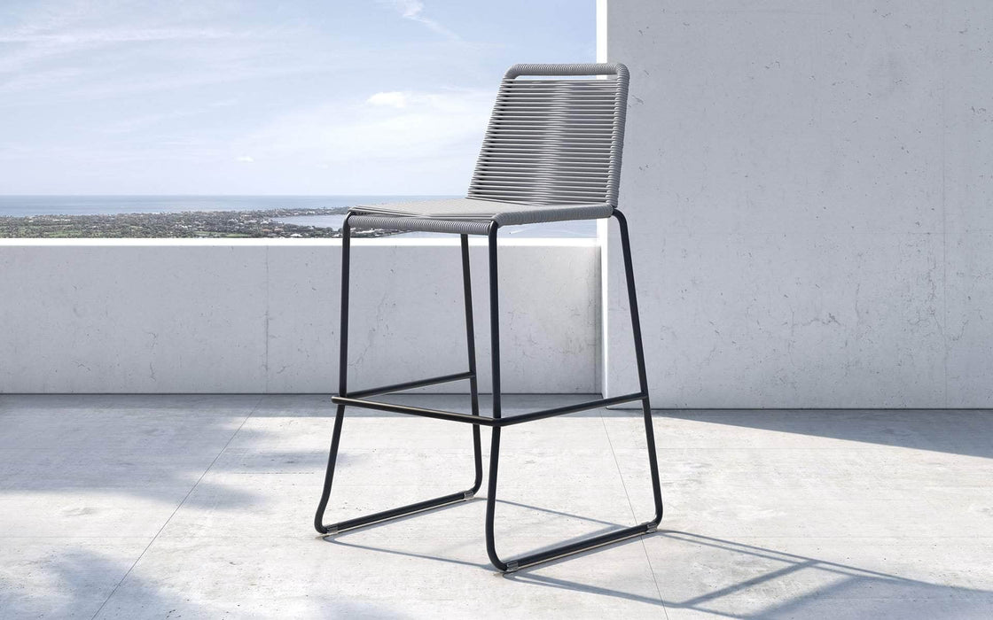 Pending - Modloft Outdoor Light Gray Cord Barclay Stacking Counter Stool - Available in 8 Colors