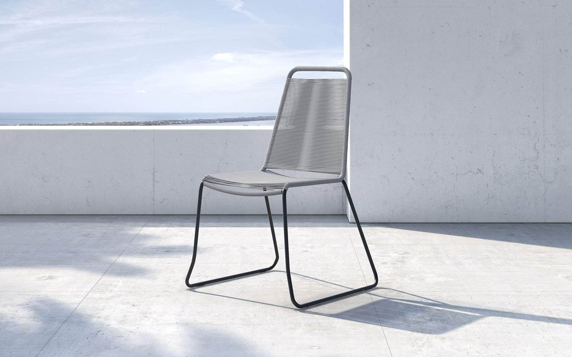 Pending - Modloft Outdoor Light Gray Cord Barclay Stacking Dining Chair - Available in 6 Colors