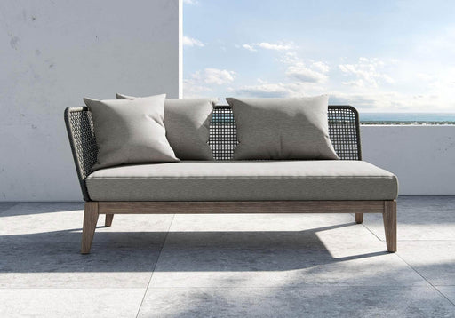 Pending - Modloft Outdoor Netta Open Arm Sofa in Feather Gray Fabric - Available in 2 Styles