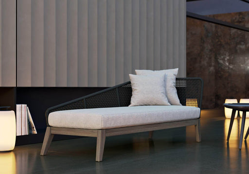 Pending - Modloft Outdoor Netta Outdoor Chaise in Feather Gray Fabric - Available in 2 Styles