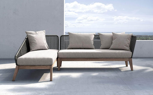 Pending - Modloft Outdoor Netta Outdoor Sectional Sofa in Feather Gray Fabric - Available in 2 Styles