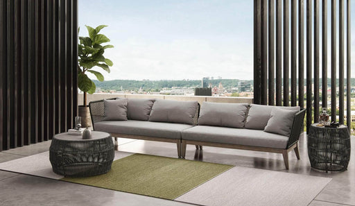 Pending - Modloft Outdoor Netta Outdoor Sectional Sofa XL in Feather Gray Fabric