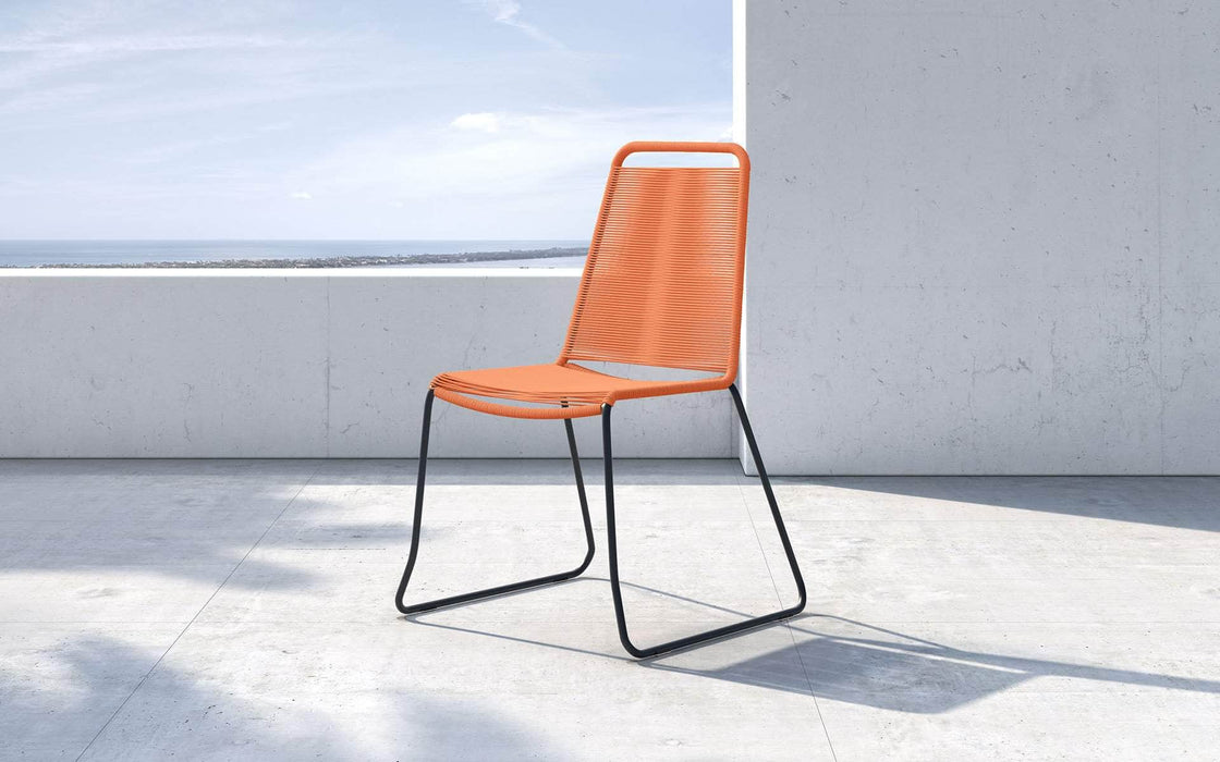 Pending - Modloft Outdoor Orange Cord Barclay Stacking Dining Chair - Available in 6 Colors