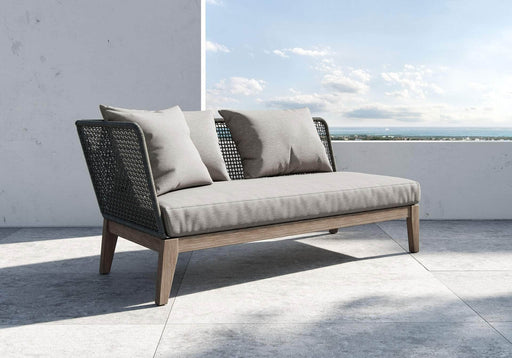 Pending - Modloft Outdoor Right Netta Open Arm Sofa in Feather Gray Fabric - Available in 2 Styles
