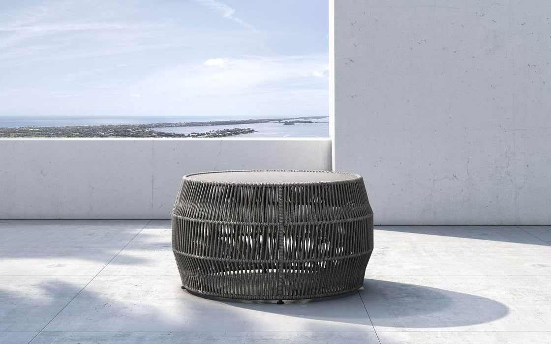 Pending - Modloft Outdoor Shades of Gray Cord Volta Outdoor Cocktail Table - Available in 2 Colors