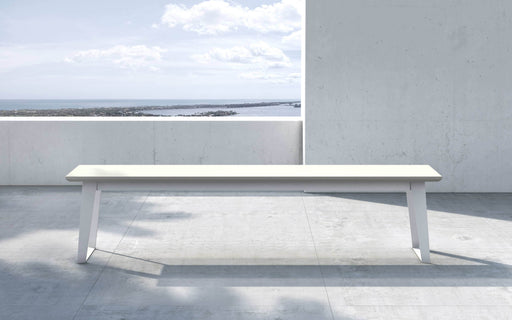 Pending - Modloft Outdoor White Sand Concrete Amsterdam Outdoor Bench - Available in 2 Colors