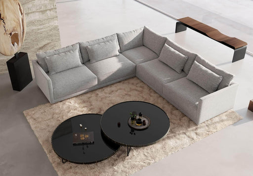 Pending - Modloft Sectionals Basel Corner Sectional Sofa in Slate Pebble Fabric