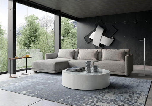 Pending - Modloft Sectionals Basel Sectional Sofa in Slate Pebble Fabric - Available in 2 Styles