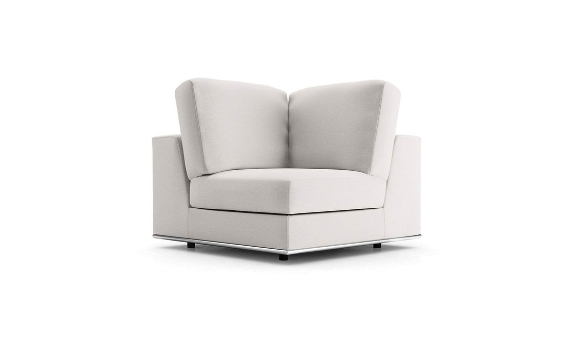 Pending - Modloft Sectionals Chalk Fabric Perry Modular Corner Chair - Available in 2 Colors