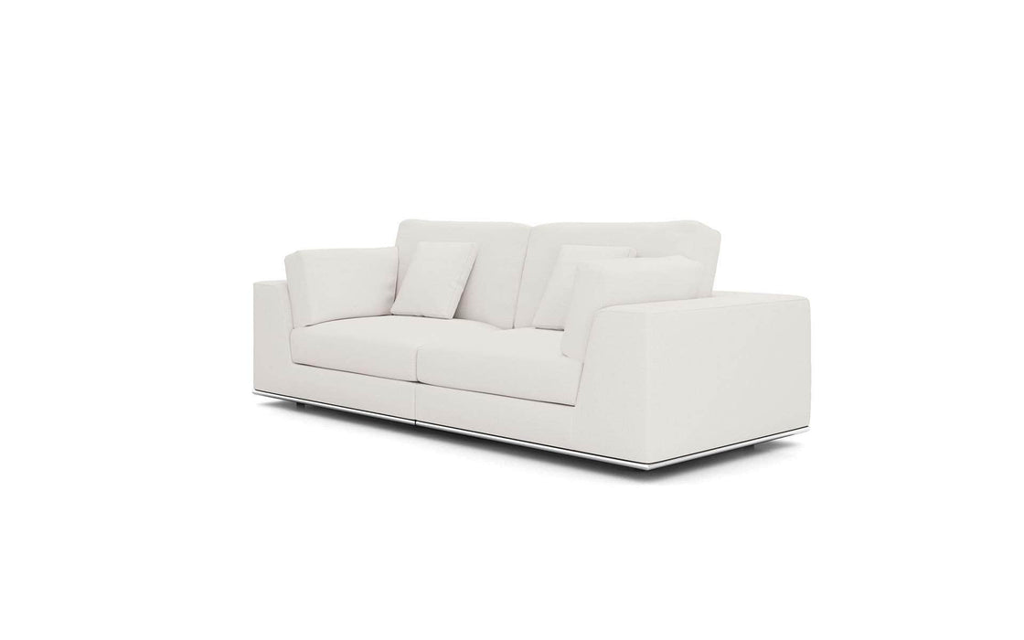 Pending - Modloft Sectionals Chalk Fabric Perry Sectional 2 Seat Sofa - Available in 2 Colors