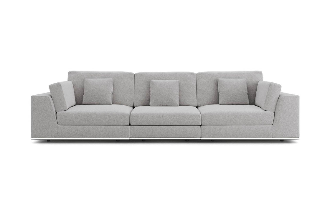 Pending - Modloft Sectionals Chalk Fabric Perry Sectional 3 Seat Sofa - Available in 2 Colors