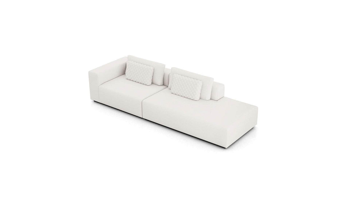 Pending - Modloft Sectionals Chalk Fabric Spruce Sectional Sofa with End Unit in Chalk Fabric