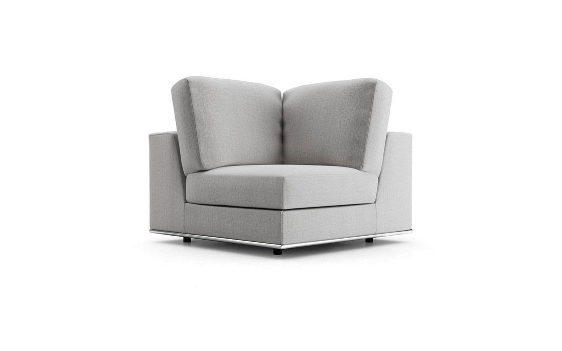 Pending - Modloft Sectionals Gris Fabric Perry Modular Corner Chair - Available in 2 Colors
