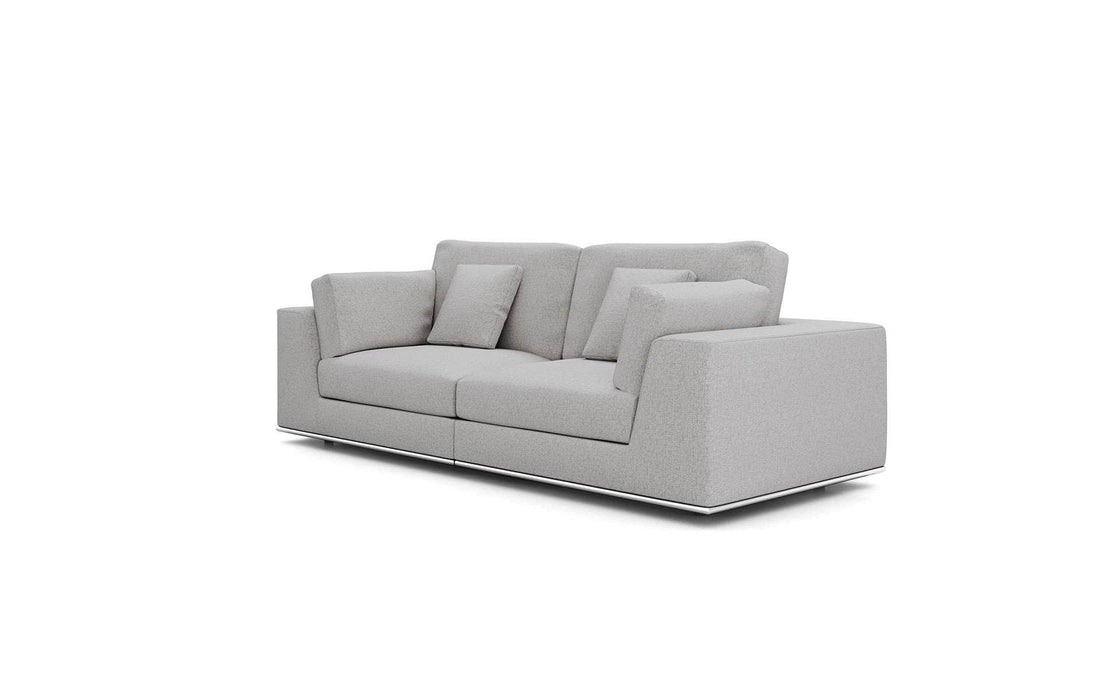 Pending - Modloft Sectionals Gris Fabric Perry Sectional 2 Seat Sofa - Available in 2 Colors