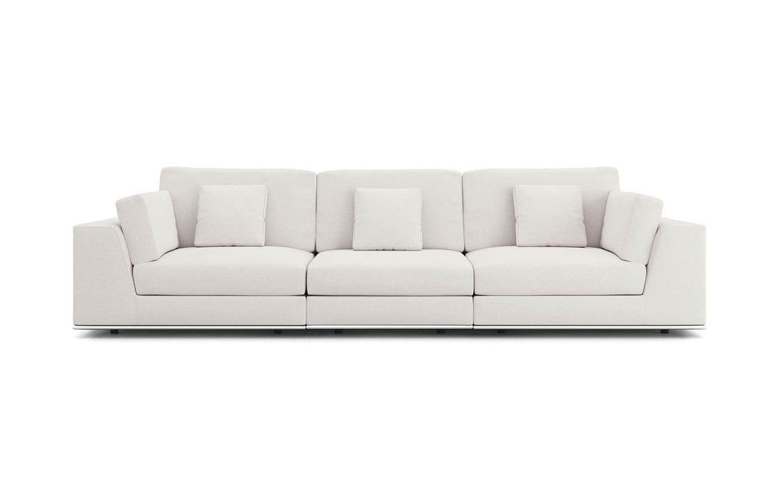 Pending - Modloft Sectionals Gris Fabric Perry Sectional 3 Seat Sofa - Available in 2 Colors