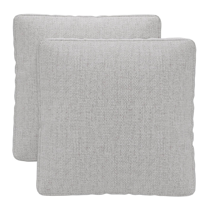Pending - Modloft Sectionals Gris Fabric Perry Throw Pillows (Set of 2) - Available in 2 Colors