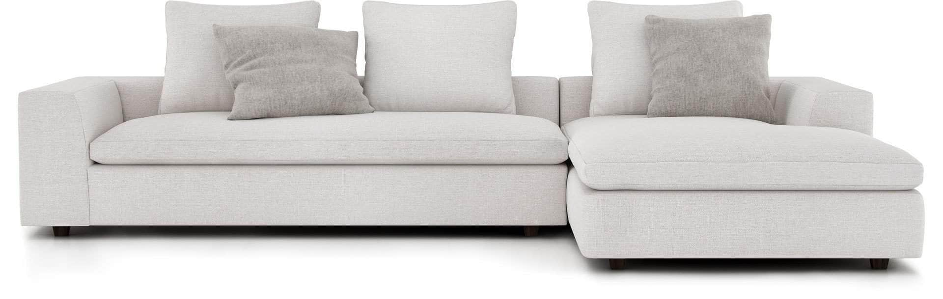 Pending - Modloft Sectionals Left Lucerne Sectional Sofa in Ashen Fabric - Available in 2 Styles