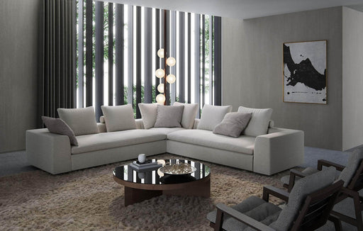 Pending - Modloft Sectionals Lucerne Corner Sectional Sofa in Ashen Fabric