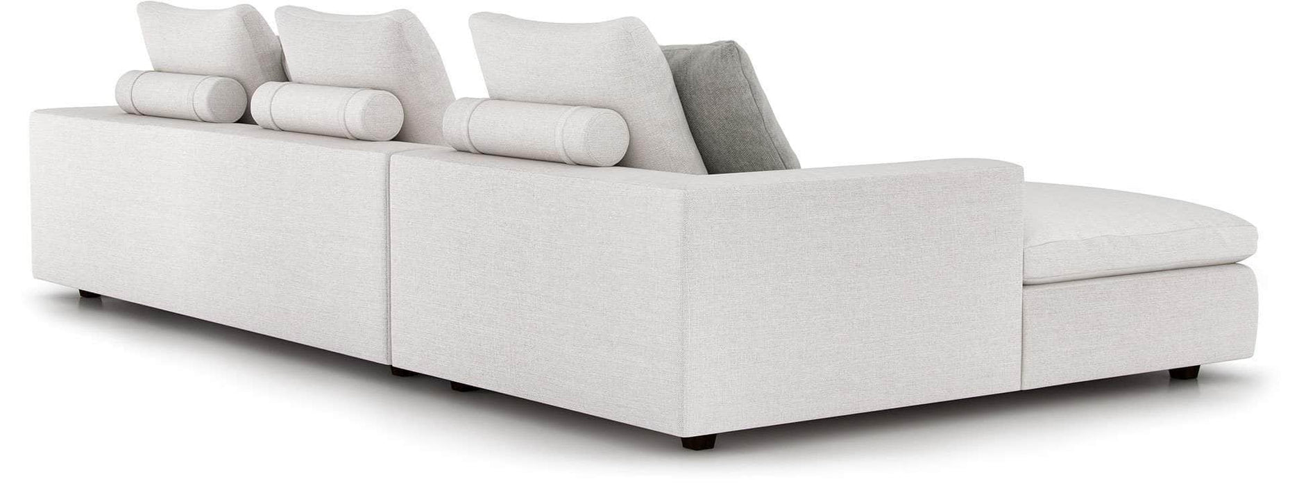 Lucerne Left Sectional Sofa in Ashen Fabric