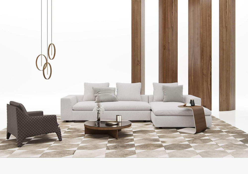 Pending - Modloft Sectionals Lucerne Sectional Sofa in Ashen Fabric - Available in 2 Styles