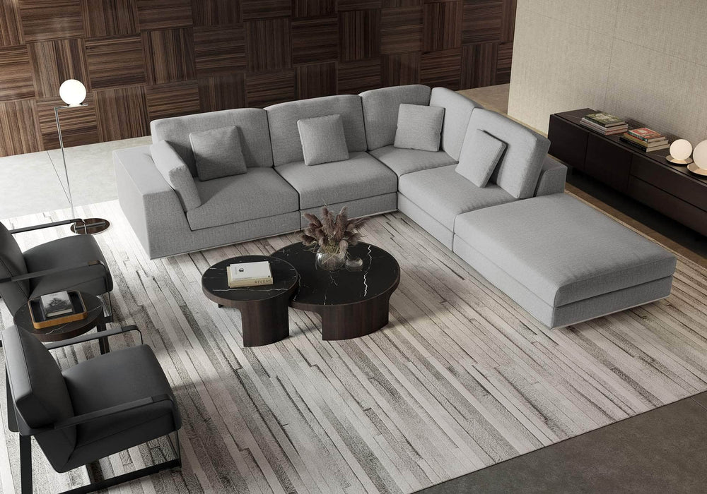 Pending - Modloft Sectionals Perry Sectional 1 Arm Corner Open Sofa - Available in 2 Colors