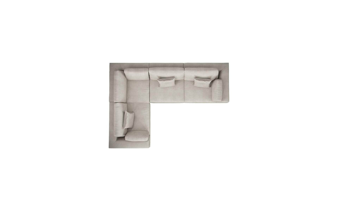 Pending - Modloft Sectionals Perry Sectional 2 Arm Corner Compact Sofa - Available in 2 Colors