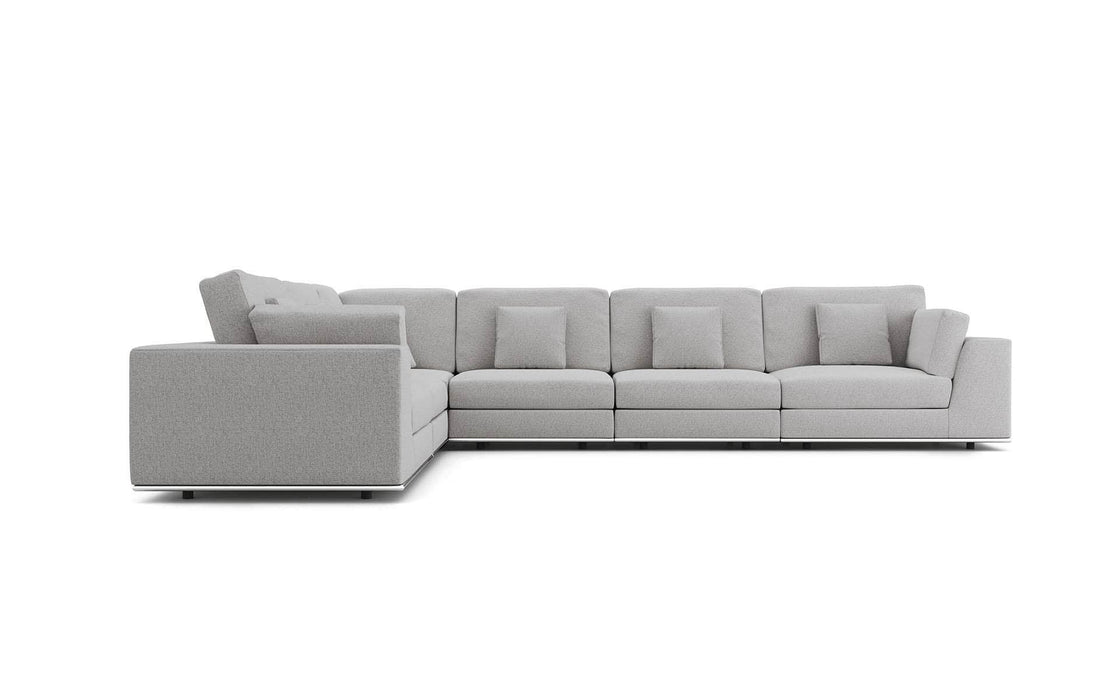 Pending - Modloft Sectionals Perry Sectional Large 2 Arm Corner Sofa - Available in 2 Colors