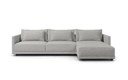 Basel Right Sectional Sofa in Slate Pebble Fabric