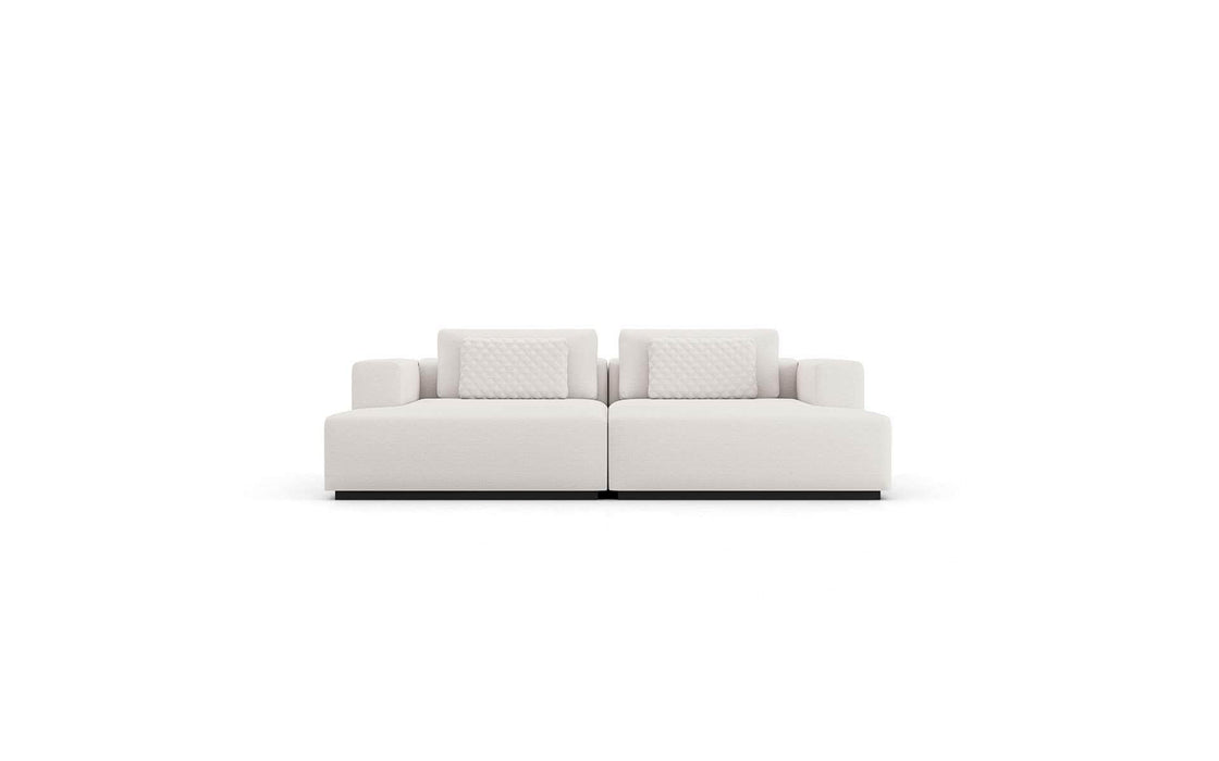 Pending - Modloft Sectionals Spruce Double Chaise in Chalk Fabric