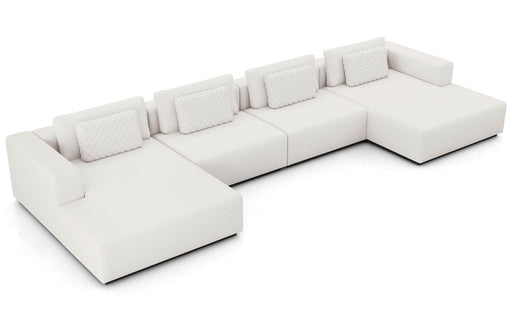 Pending - Modloft Sectionals Spruce Sectional U Sofa in Chalk Fabric