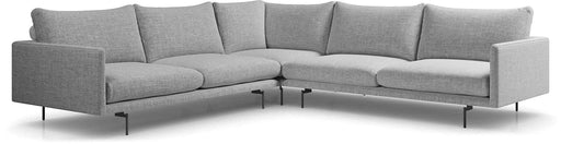 Pending - Modloft Sectionals Stargazer Gray Fabric Houston Corner Sectional Sofa - Available in 2 Colors
